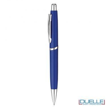 Penne in plastica personalizzate con stampa colore blu