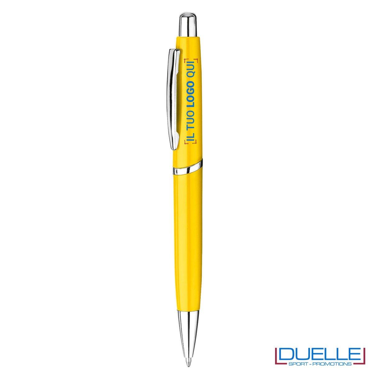 Penne in plastica personalizzate con stampa colore giallo