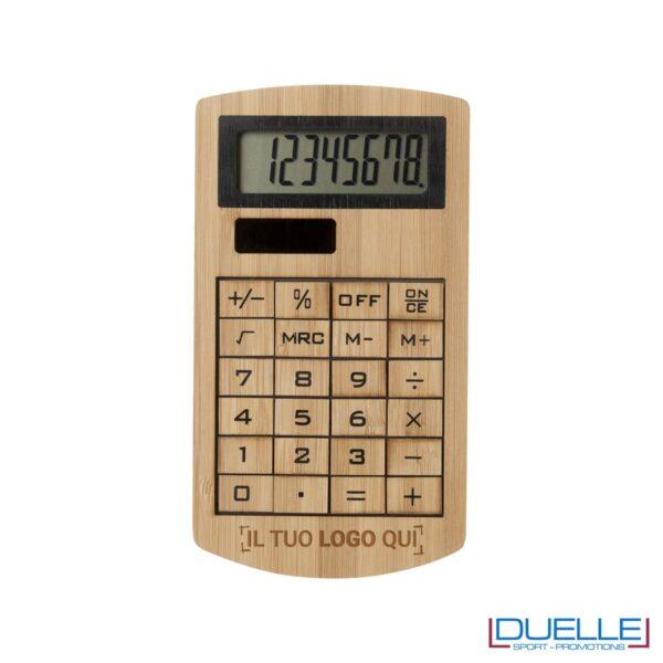 Calcolatrice in bambù personalizzata