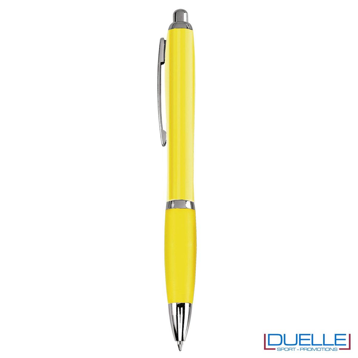 Penna economica personalizzata fusto traslucido colore giallo