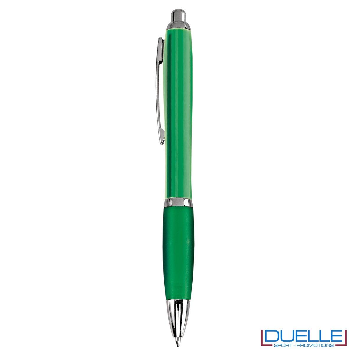Penna economica personalizzata fusto traslucido colore verde