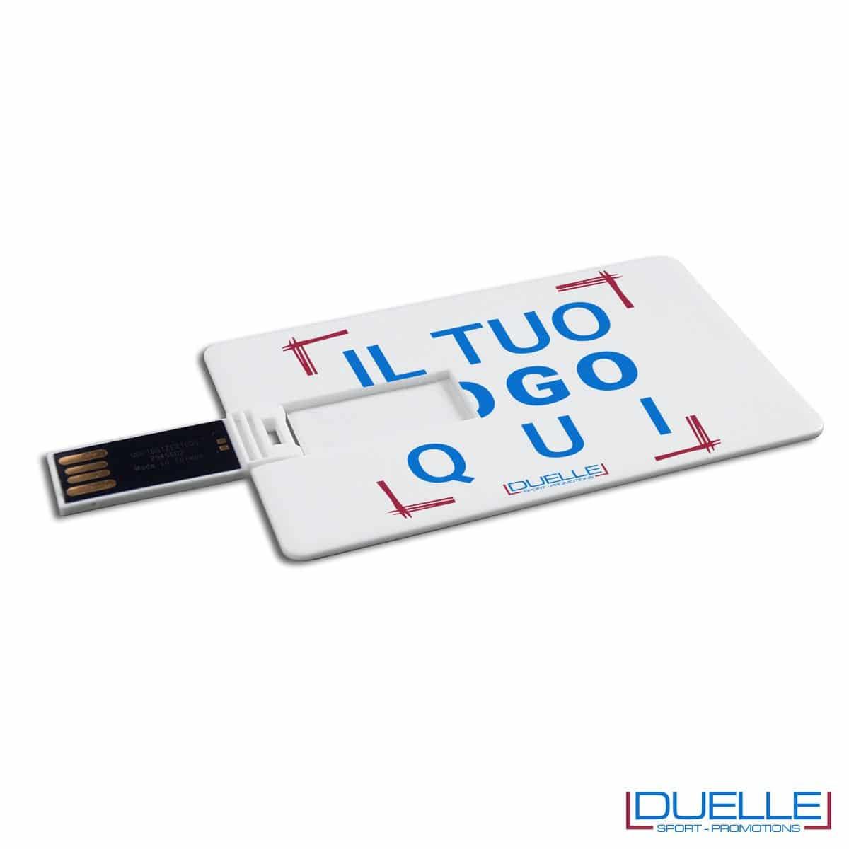 Memoria USB personalizzata carta di credito