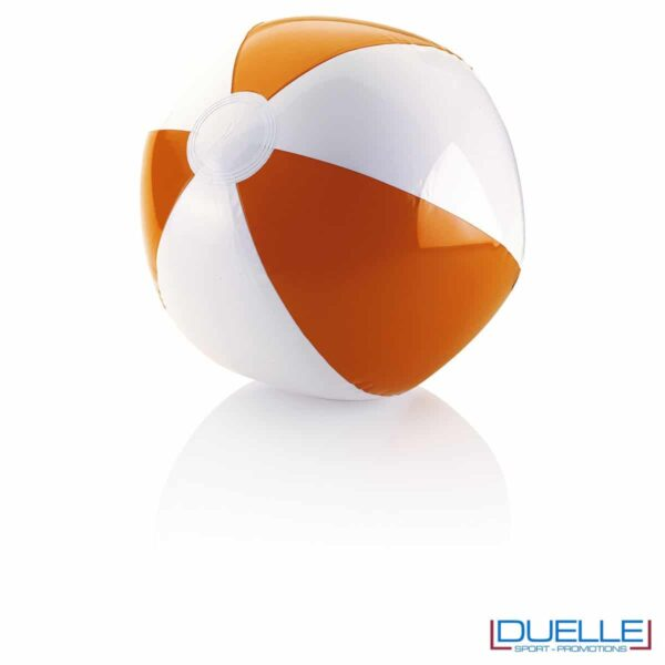 palla gonfiabile da spiaggia personalizzata colore arancione