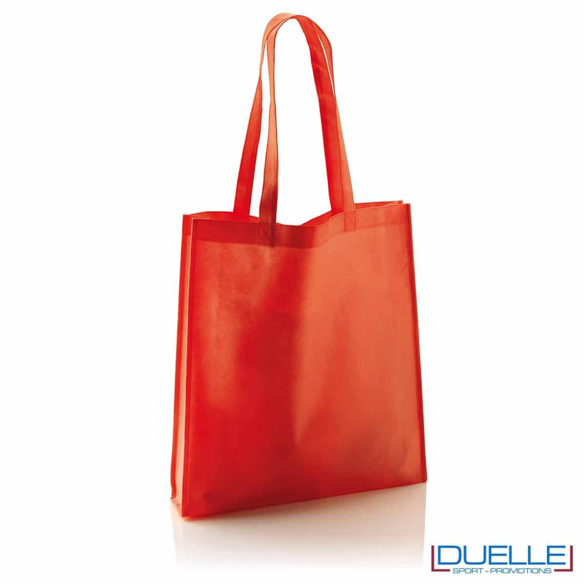 Shopper Personalizzata in TNT con soffietto colore rosso