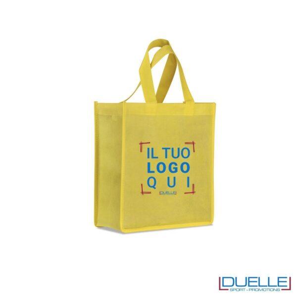 Shopper Personalizzate mini in TNT colore giallo