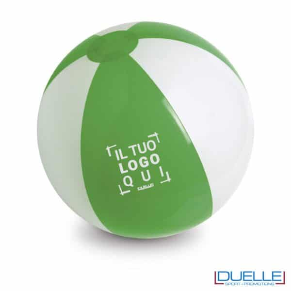 pallone gonfiabile da spiaggia personalizzato colore verde - Gadget Estate