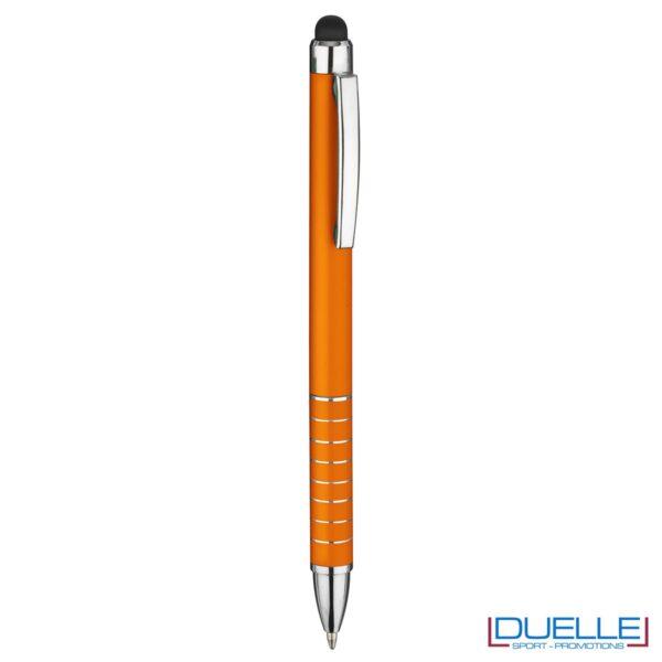 penna touch screen personalizzata in alluminio laccato arancione