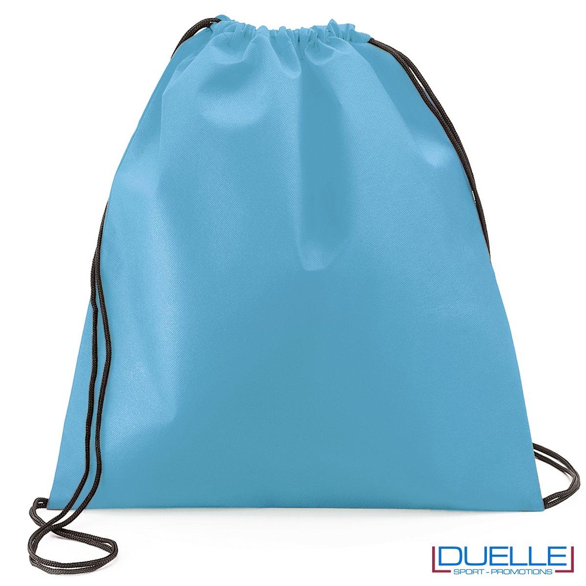 zaino personalizzato portascarpe in zolore azzurro