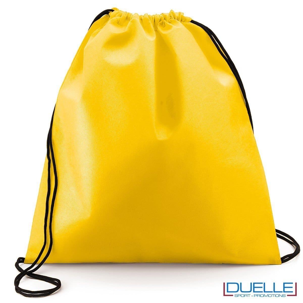 zaino personalizzato portascarpe in colore giallo