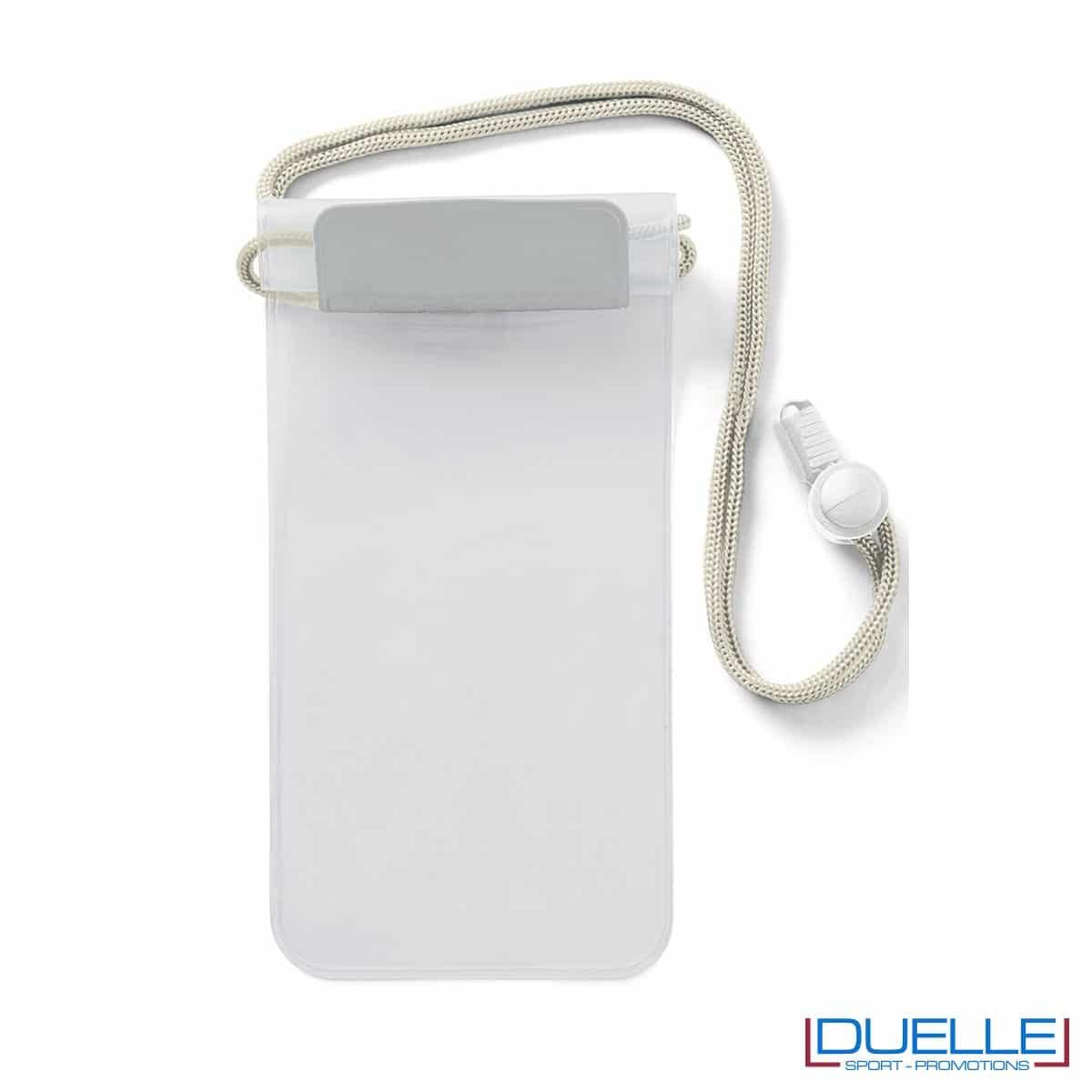 Porta cellulare impermeabile personalizzato colore silver