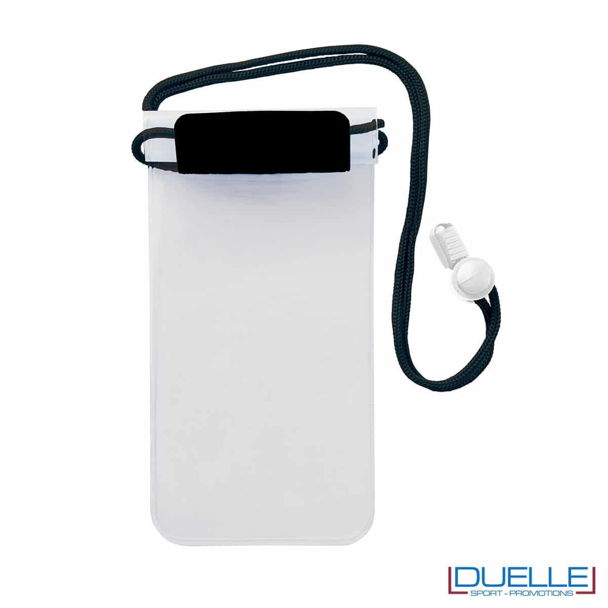 Porta cellulare impermeabile personalizzato colore nero