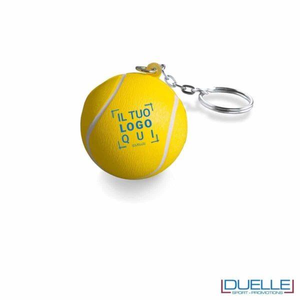 portachiavi personalizzato pallina da tennis antistress