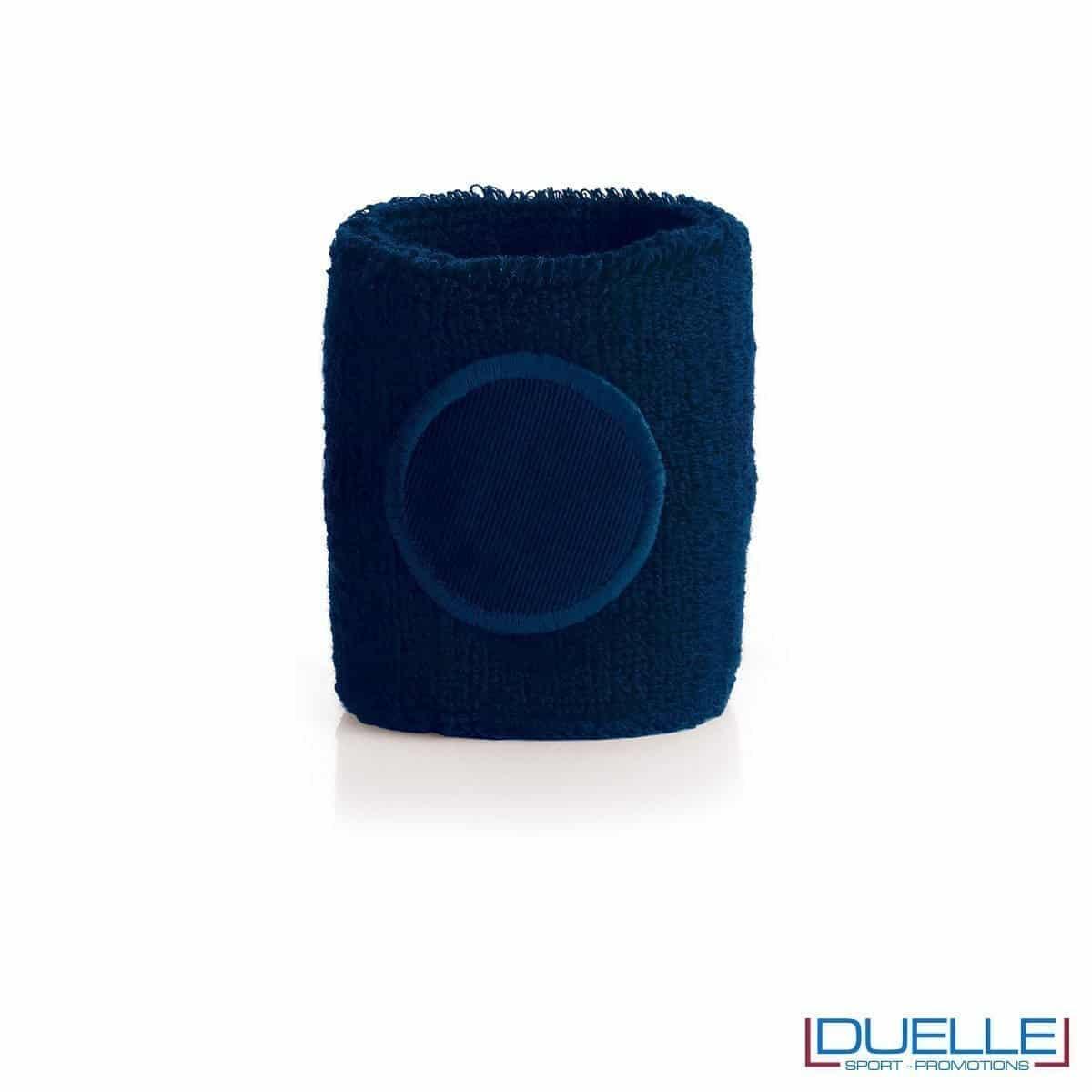 polsino tergisudore personalizzato in colore blu, gadget sportivi personalizzati