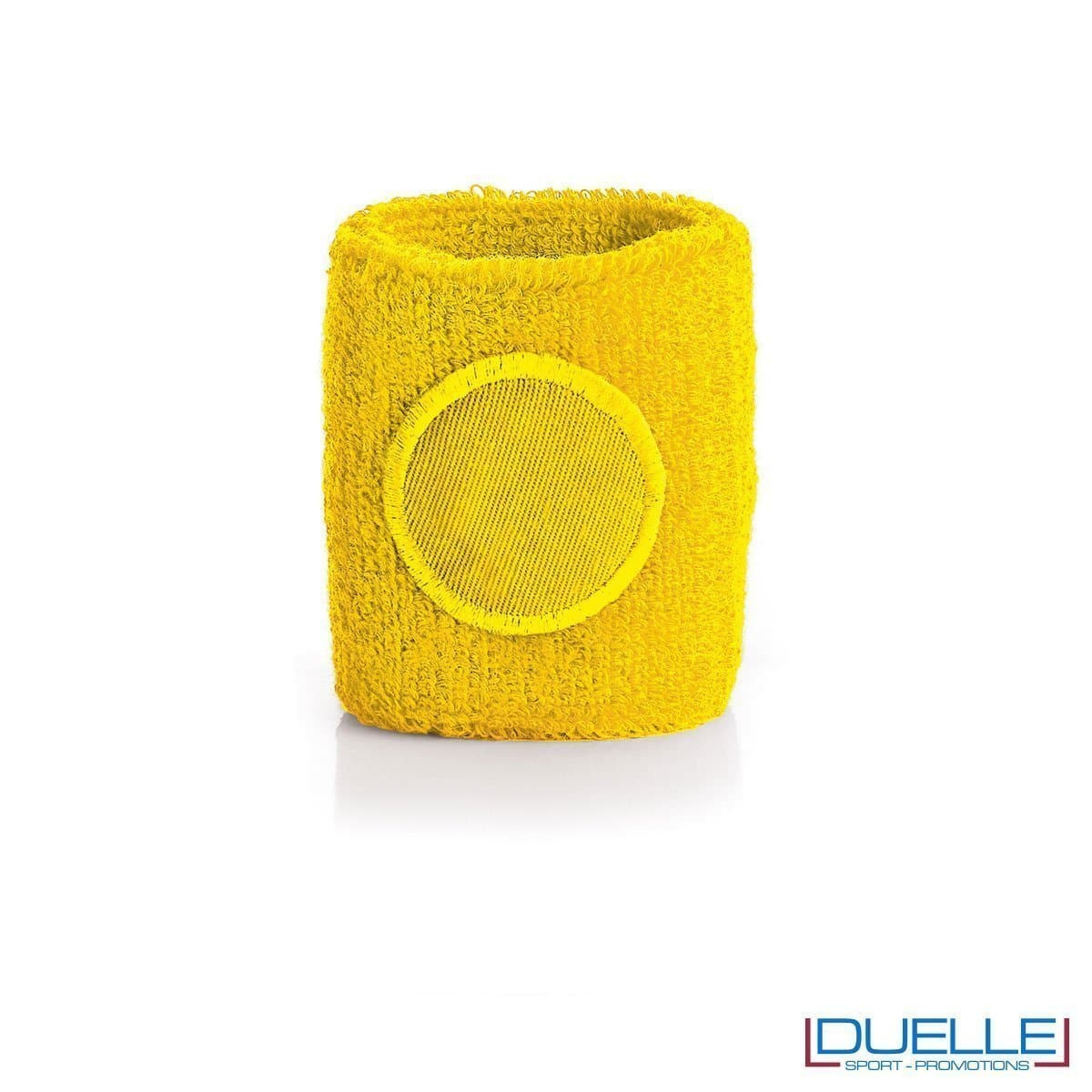 polsino tergisudore personalizzato in colore giallo, gadget sportivi personalizzati