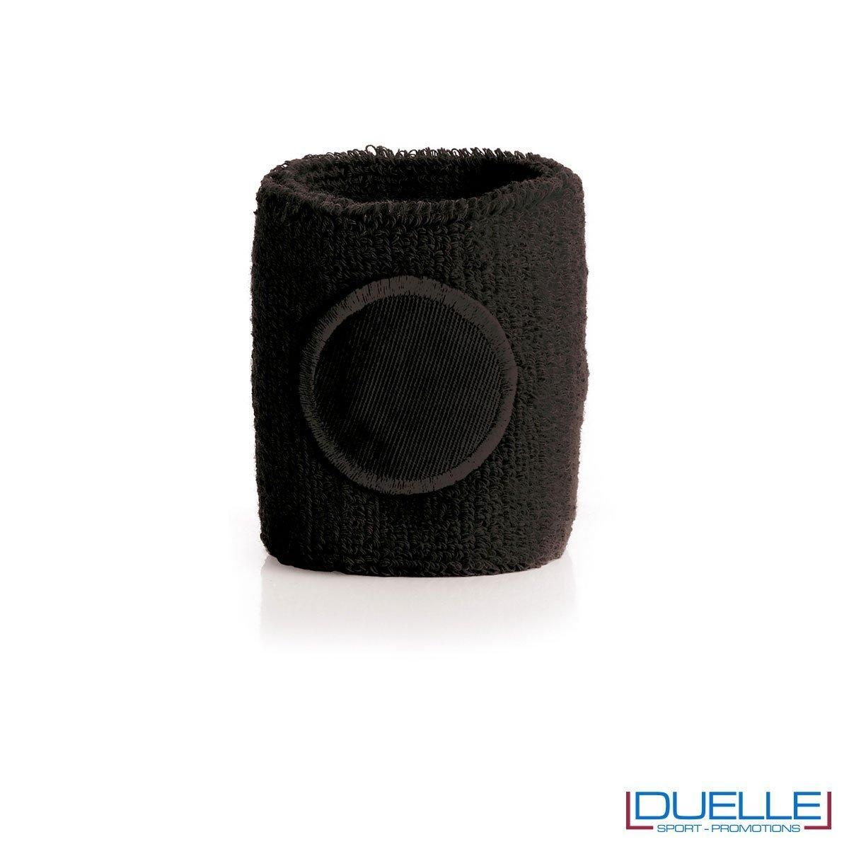 polsino tergisudore personalizzato in colore nero, gadget sportivi personalizzati