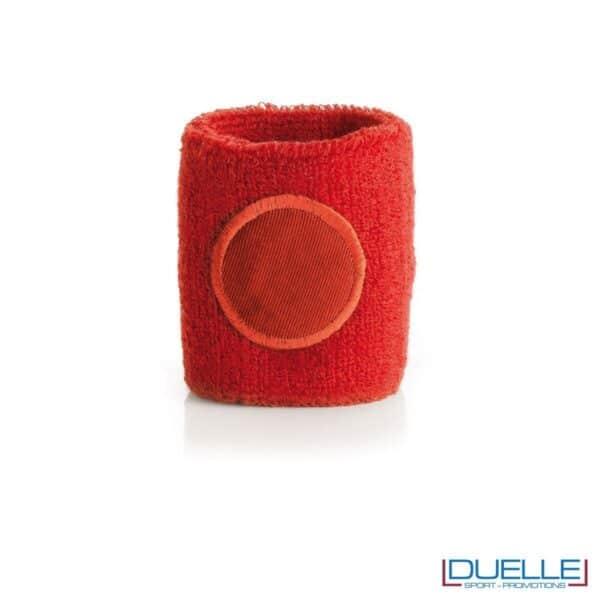 polsino tergisudore personalizzato in colore rosso, gadget sportivi personalizzati