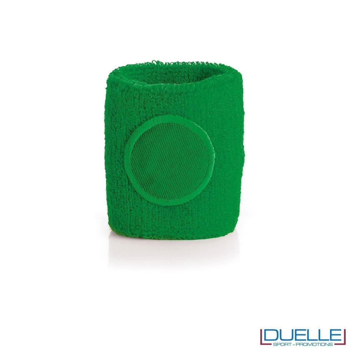 polsino tergisudore personalizzato in colore verde, gadget sportivi personalizzati