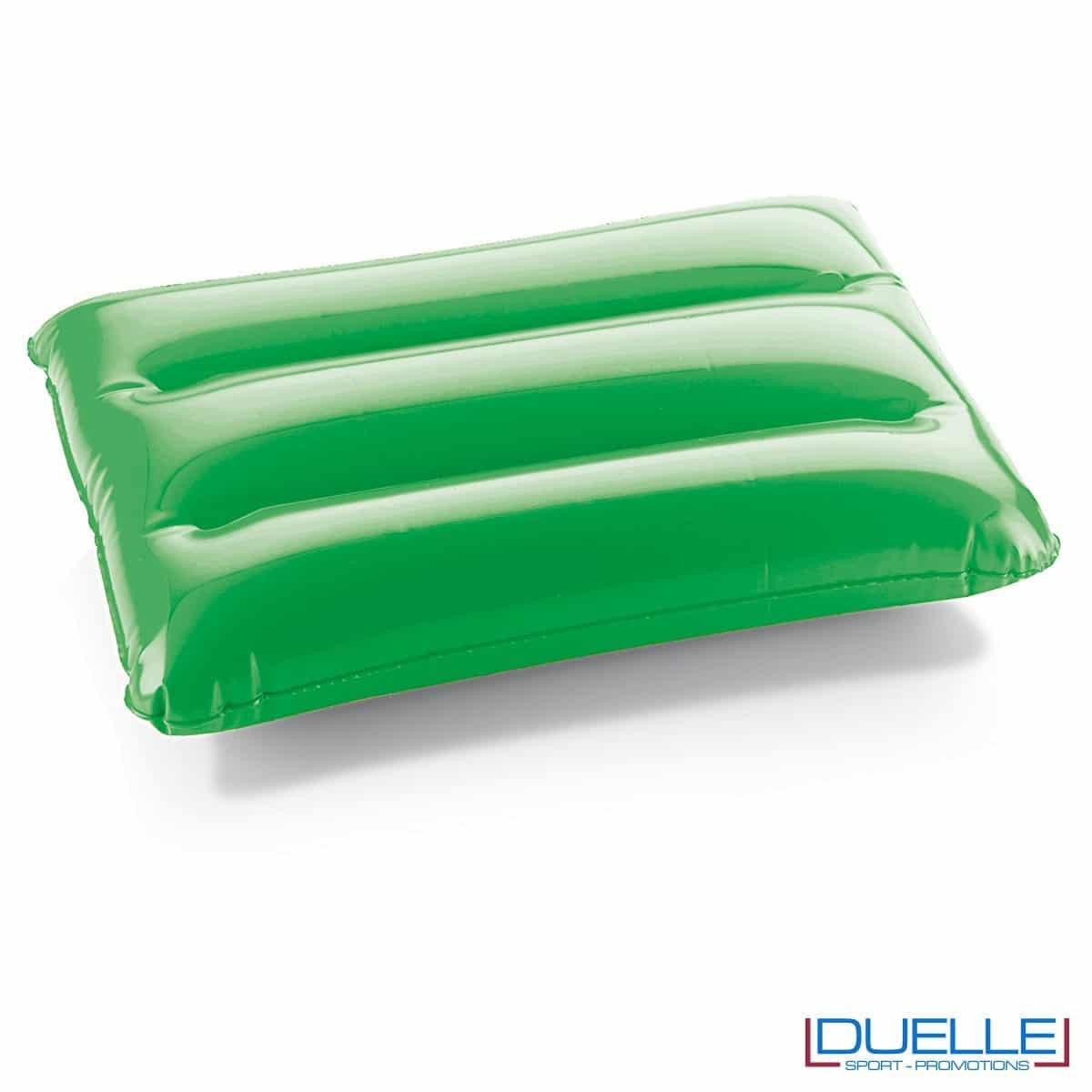 cuscino gonfiabile personalizzato verde, cuscino da spiaggia gonfiabile personalizzato