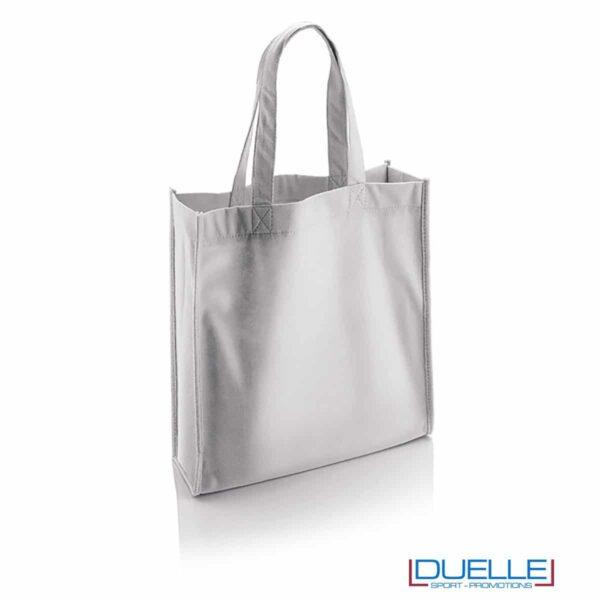 borsa shopper personalizzata in r-pet ecologica bianca