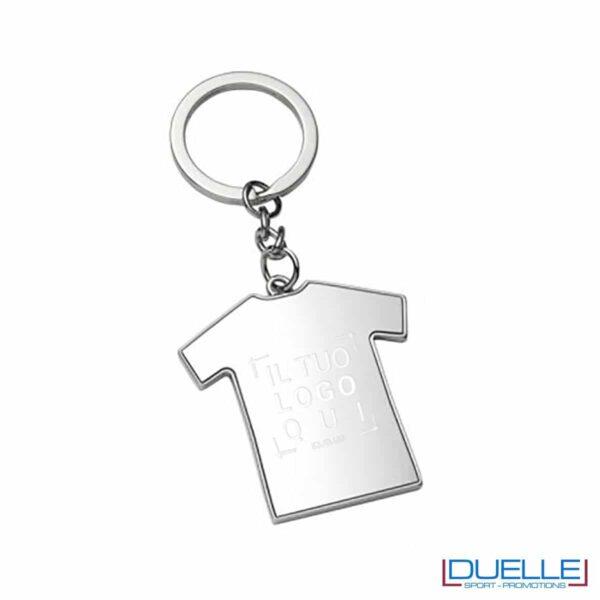 Portachiavi in metallo t-shirt sportiva personalizzabile