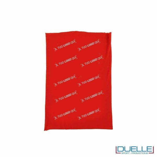 Fascia scaldacollo personalizzato con stampe colorate