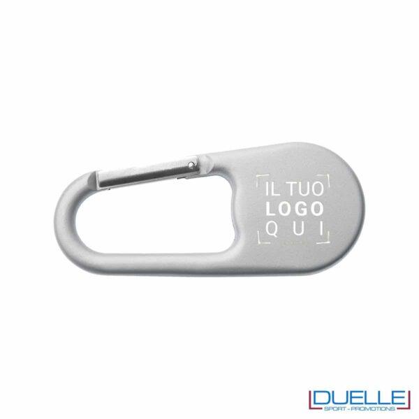 Bussola in metallo con moschettone personalizzata