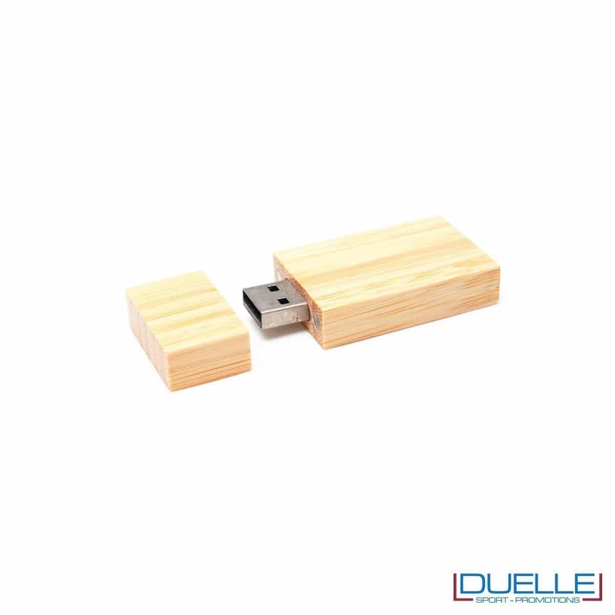 chiavetta USB in legno personalizzabile con incisione o stampa