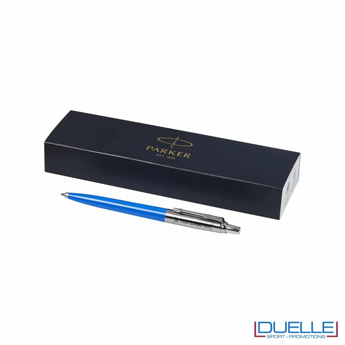 Penna Parker Jotter acciaio e plastica azzurra