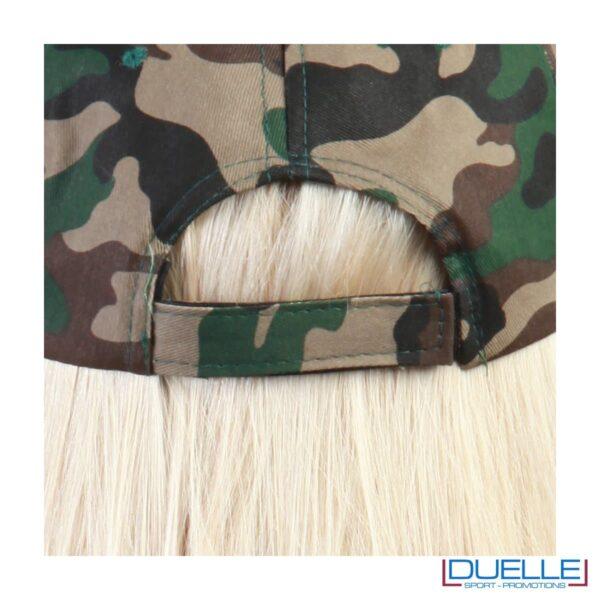 Chiusura cappellino camouflage personalizzabile