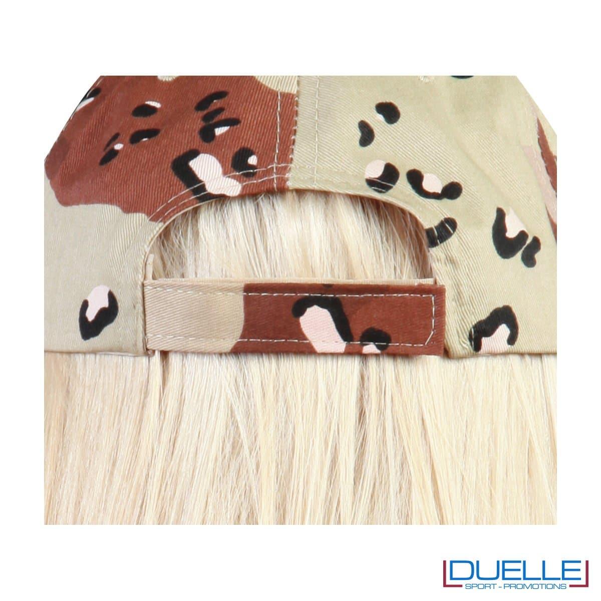 Chiusura cappellino camouflage sabbia personalizzabile