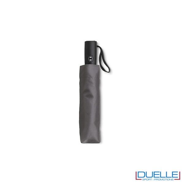 ombrello mini pieghevole con astuccio colore grigio