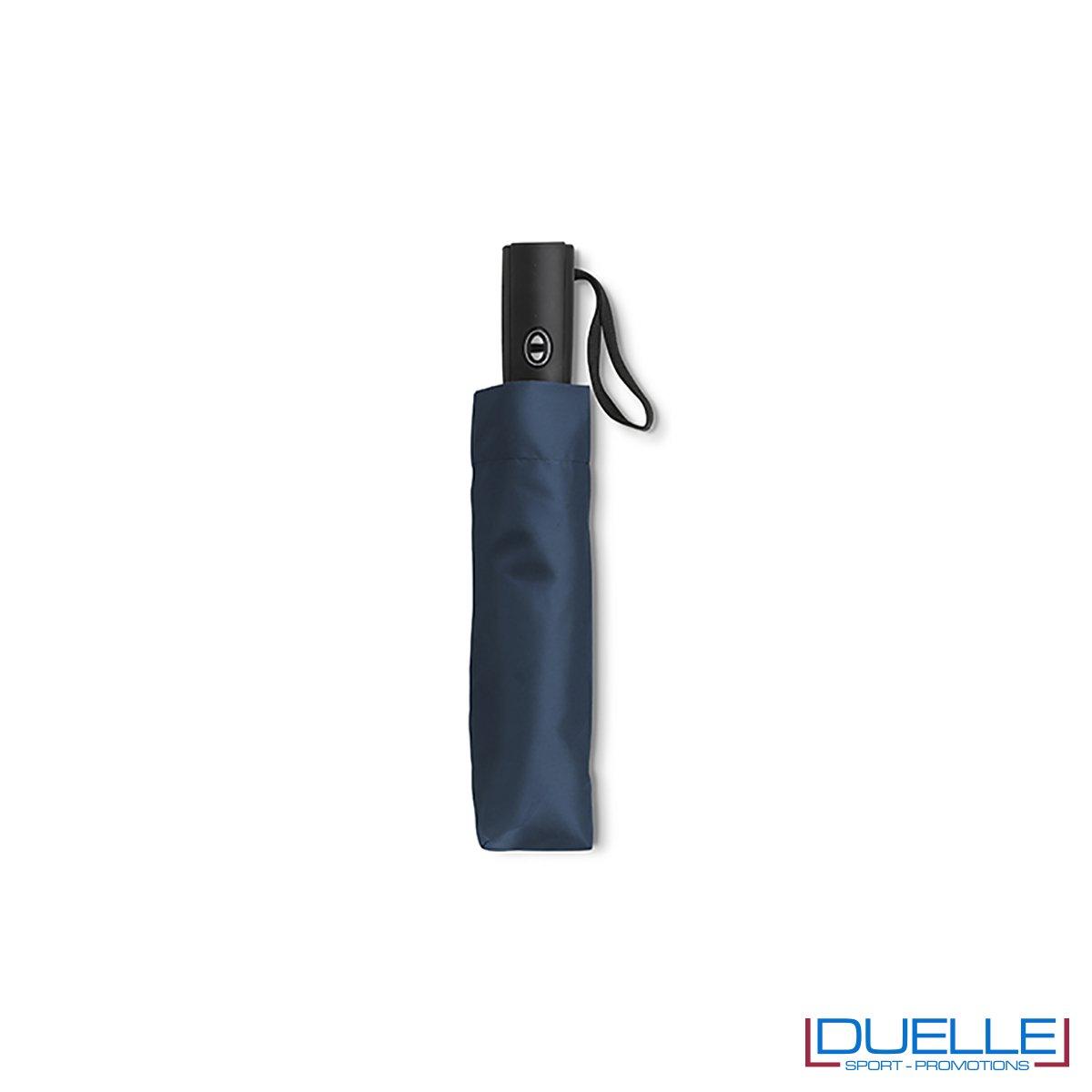 ombrello mini pieghevole con astuccio colore blu