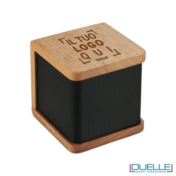 Altoparlante personalizzato bluetooth in legno
