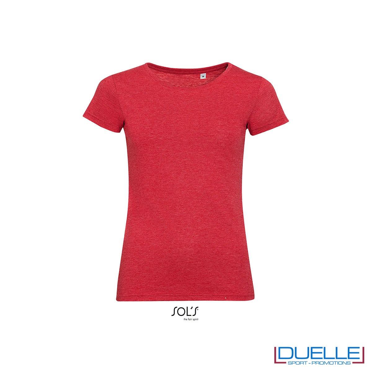 maglia rossa donna girocollo