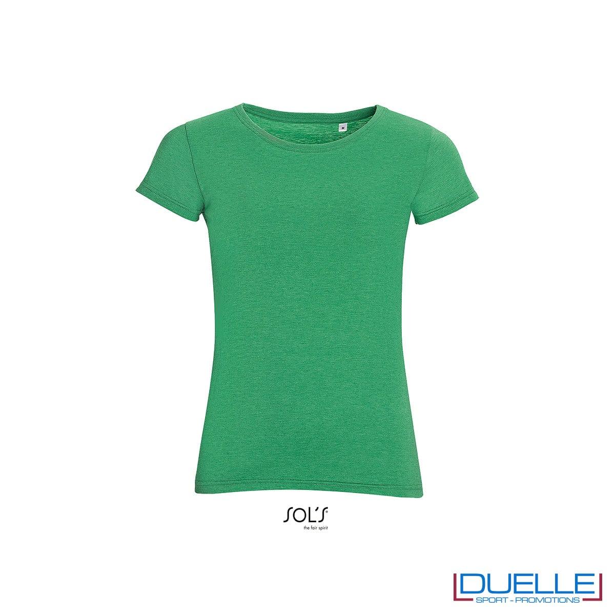 maglietta girocollo verde donna