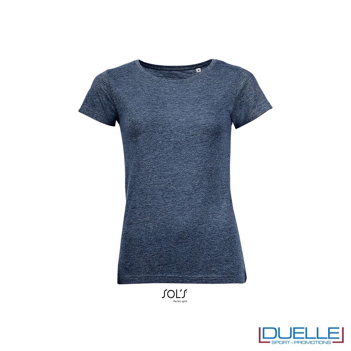 maglietta blu donna cotone e poliestere