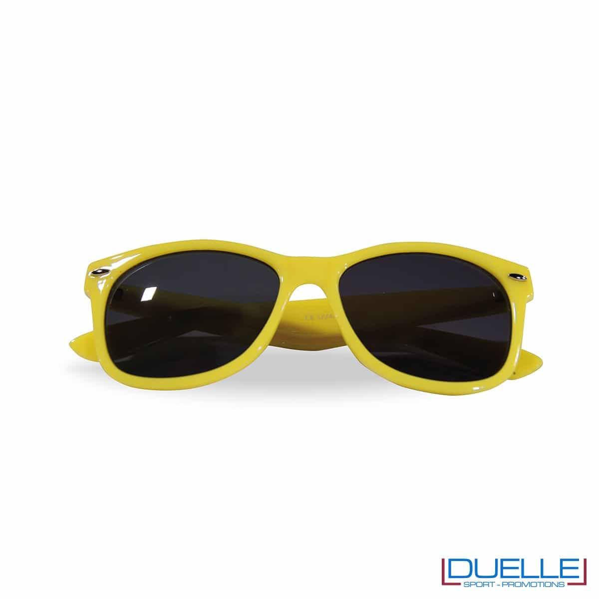 Occhiali da sole colore giallo promozionali