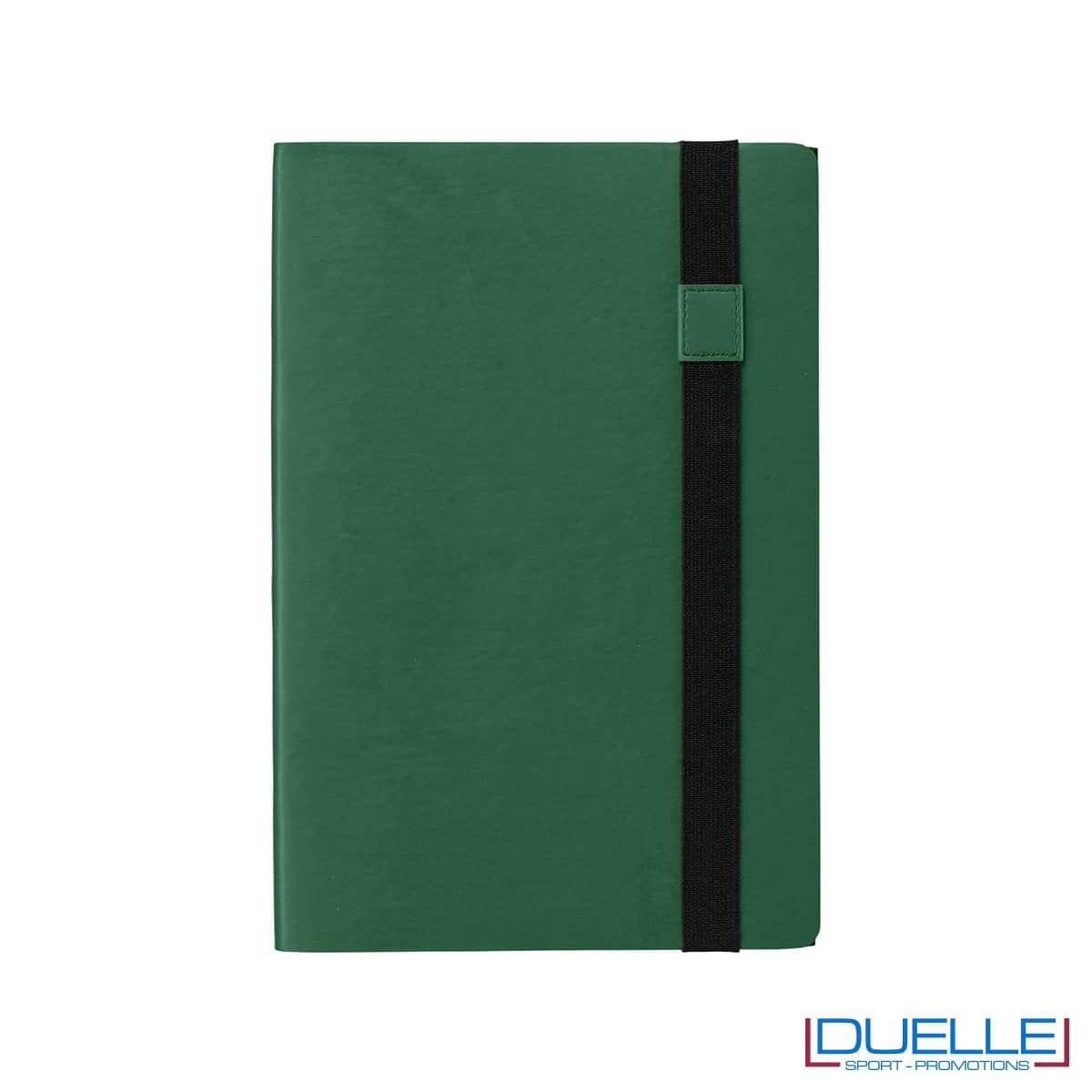 block notes personalizzato double face nero e verde