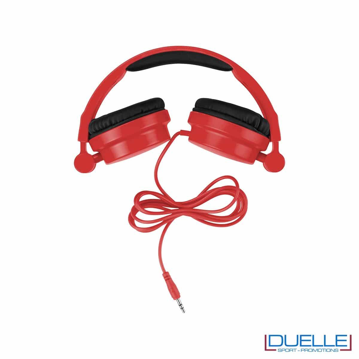 cuffie pieghevoli personalizzate promozionali colore rosso