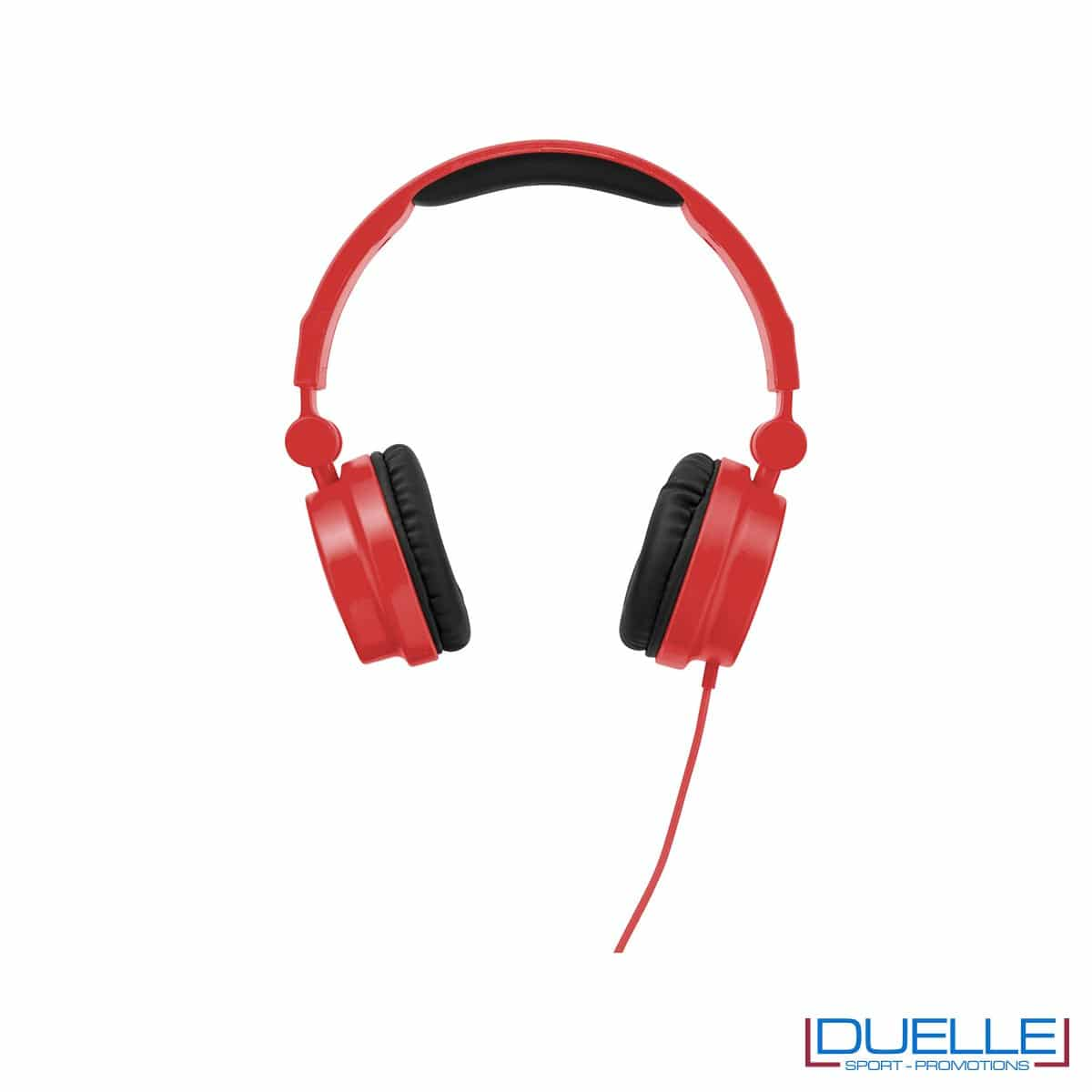 cuffie pieghevoli personalizzate promozionali in colore rosso personalizzate