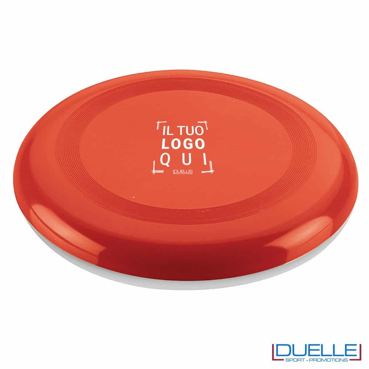 Frisbee personalizzato rosso, gadget mare promozionali, gadget spiaggia personalizzati con logo