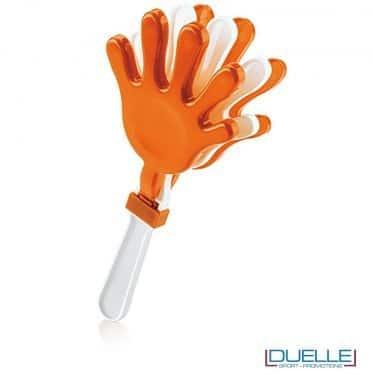 gadget battimano personalizzato colore arancione