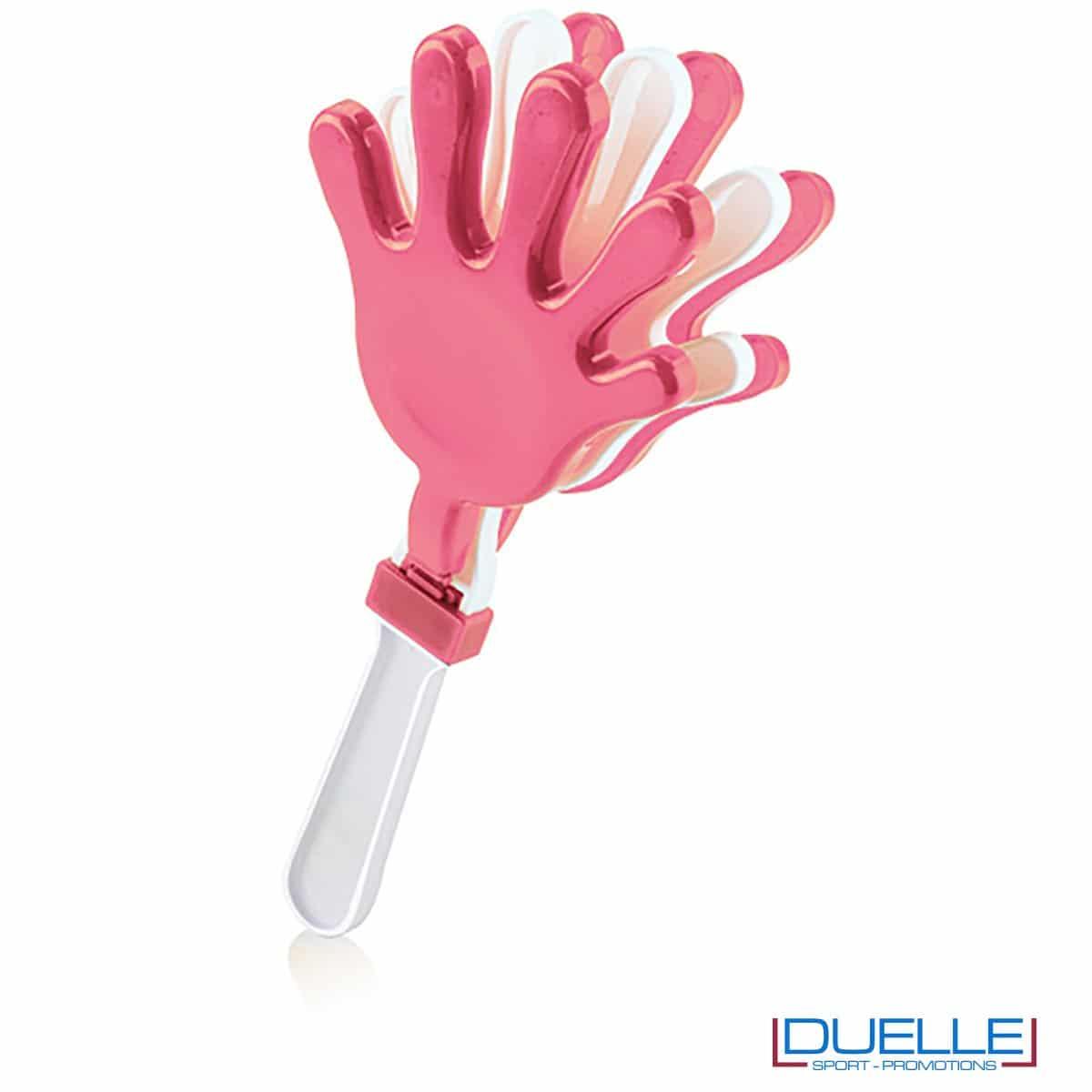 gadget battimano personalizzato colore rosa