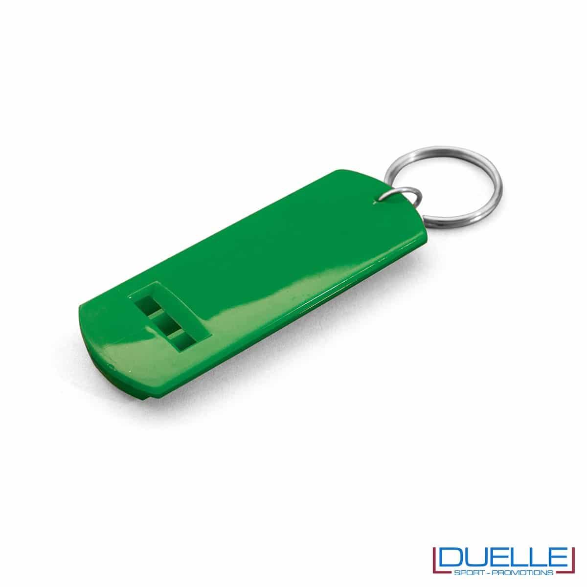 fischietto personalizzato portachiavi colore verde, gadget tifo, gadget portachiavi, gadget personalizzato
