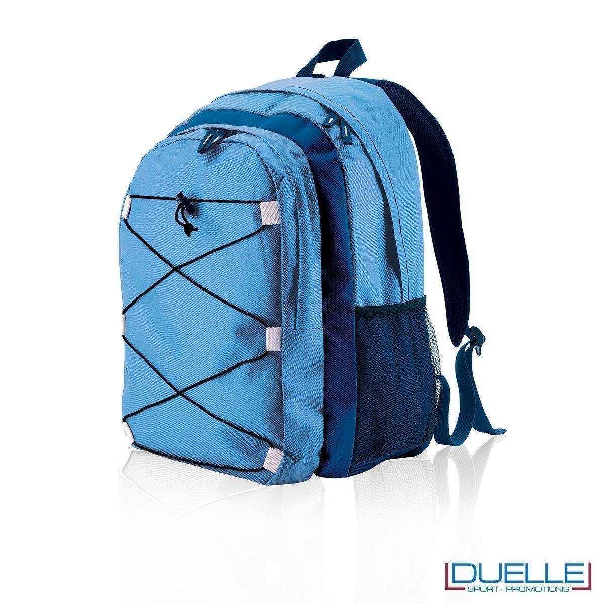 zaino personalizzato sportivo blu royal, gadget sport trekking. Zaino tipo north face