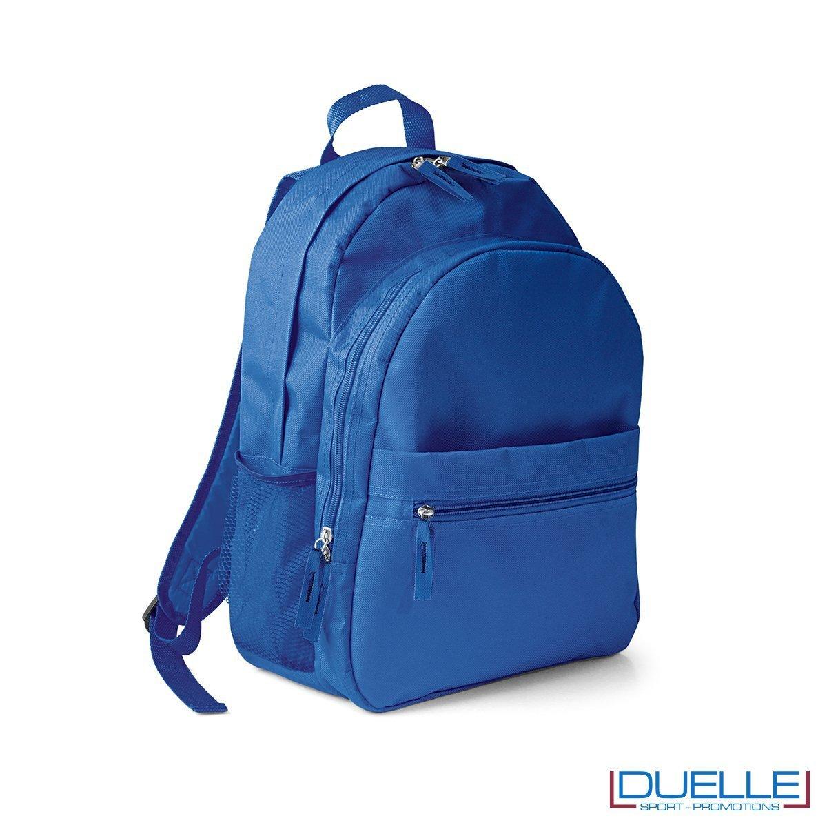 zaino personalizzato blu royal, zaino per lo sport e il tempo libero - zaino economico personalizzato grigio