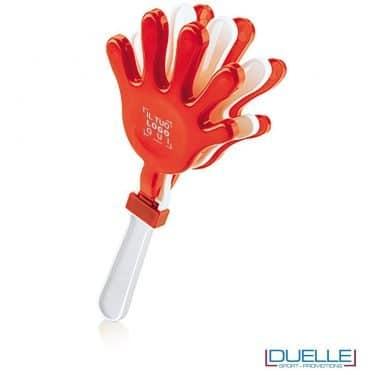 gadget battimano personalizzato colore rosso