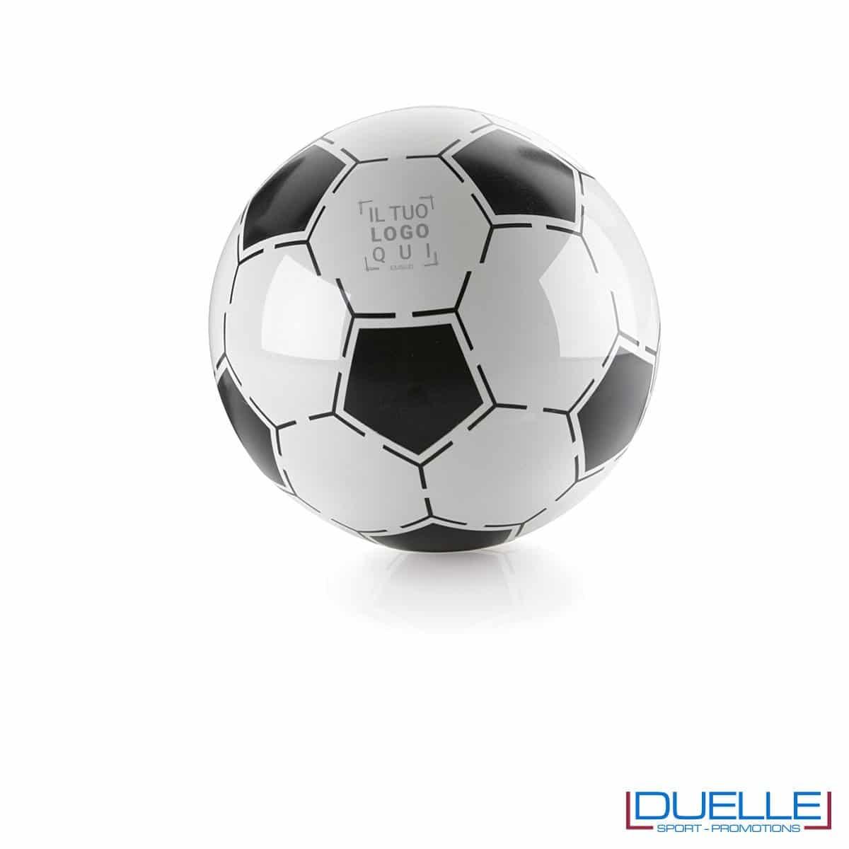 pallone personalizzato calcio nero-bianco, gadget da spiaggia, gadget promozionale estate