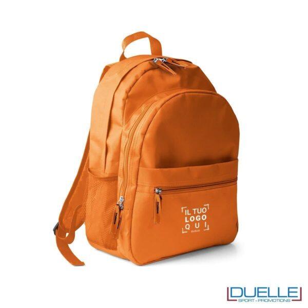 zaino personalizzato arancione, zaino per lo sport e il tempo libero - zaino economico personalizzato