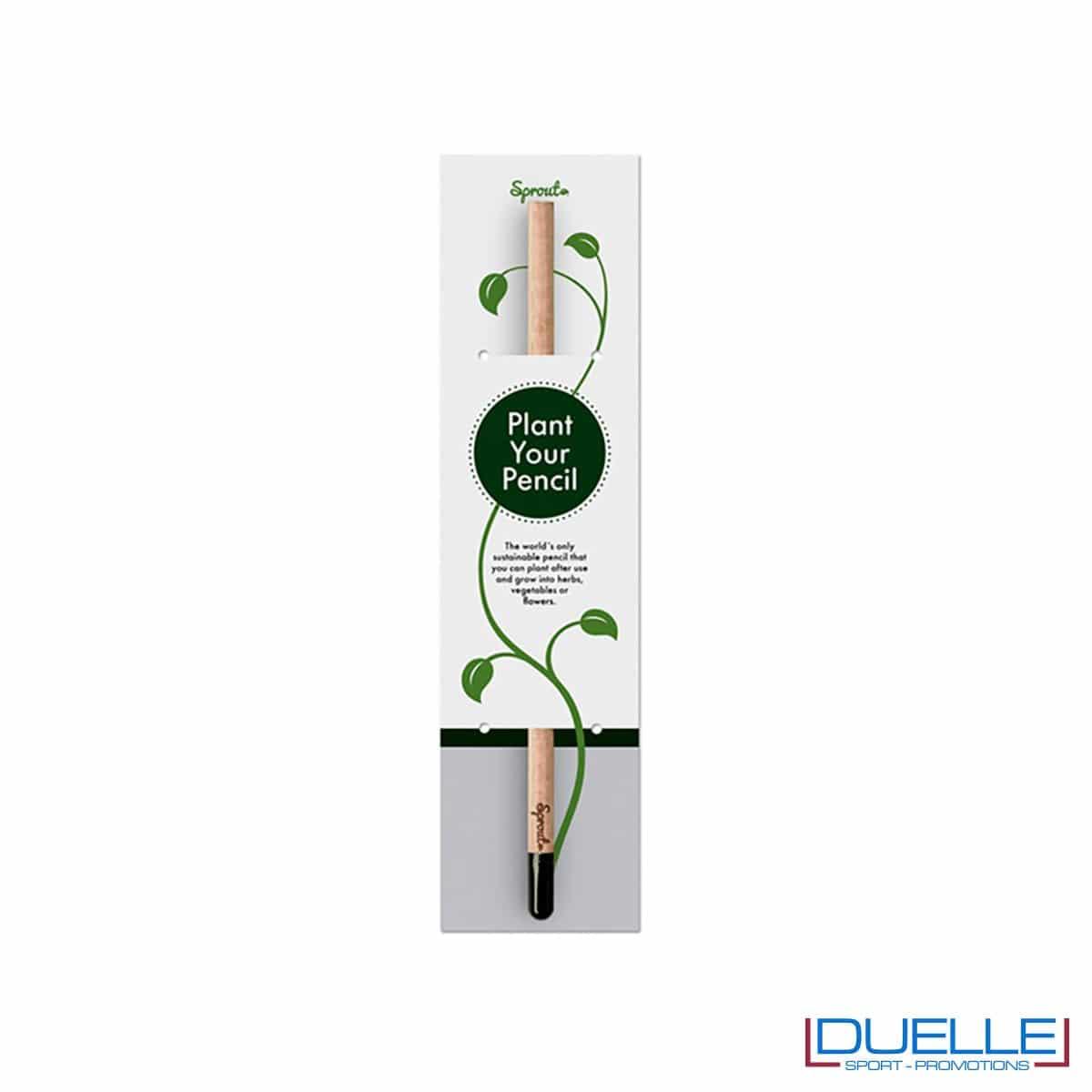 Confezione per matita Sprout personalizzata, matita con semi